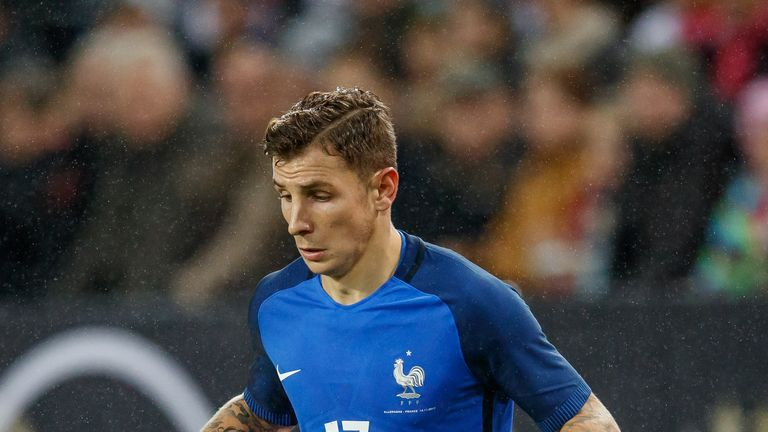 Lucas Digne was on standby for France during this summer's World Cup in Russia
