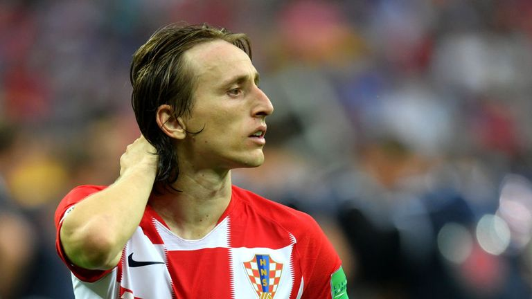 Modric was named the best player at the World Cup