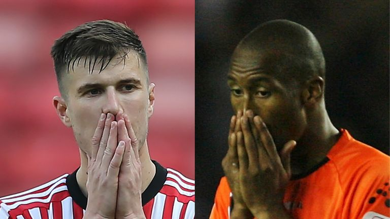 Sunderland and Luton have suffered five relegations between them since 2006/07