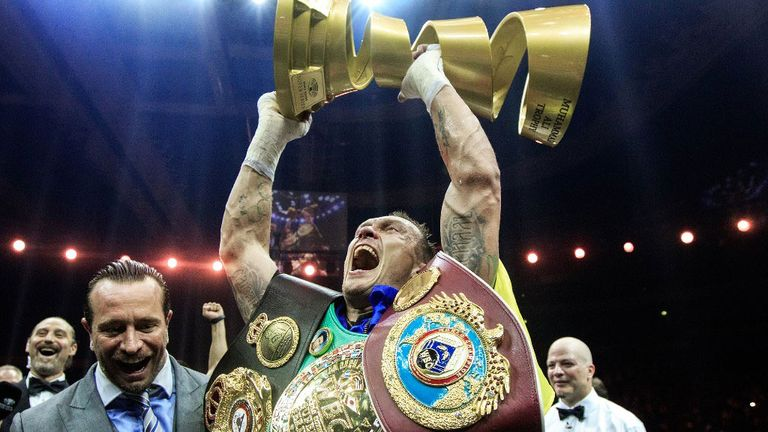 Oleksandr Usyk unified all the world titles in the World Super Series final