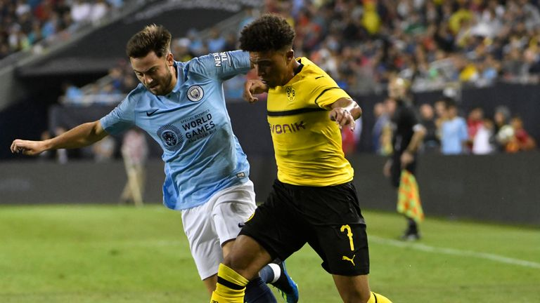 Patrick Roberts in action for Manchester City