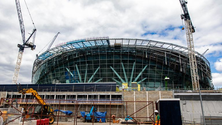 Spurs are still hopeful their new stadium might be ready for Manchester City's October visit