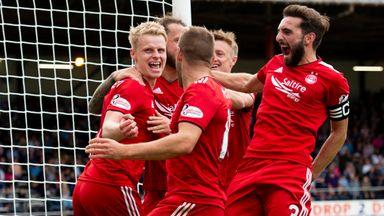 Aberdeen's Gary Mackay Steven celebrates after scoring to make it 1-0