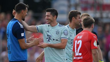 Robert Lewandowski scored Bayern Munich's winner in the 82nd minute against fourth-tier Drochtersen/Assel