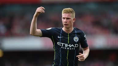 fifa live scores -                               De Bruyne may miss 'two to four months'