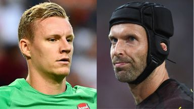 Bernd Leno and Petr Cech are battling for the No 1 jersey at Arsenal