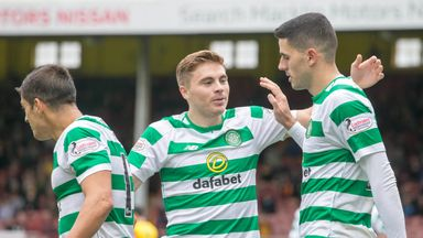 Tom Rogic (right) scored as Celtic beat Partick Thistle