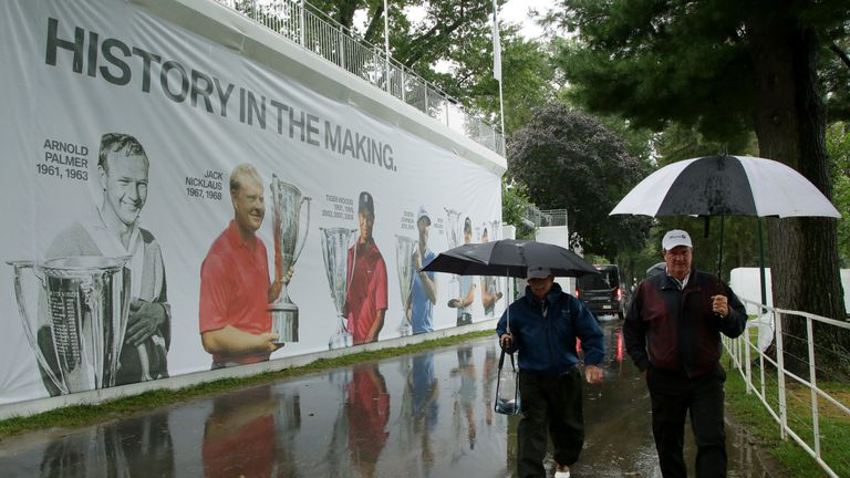 Rain delays BMW Championship, and possibly Furyk's last Ryder Cup pick
