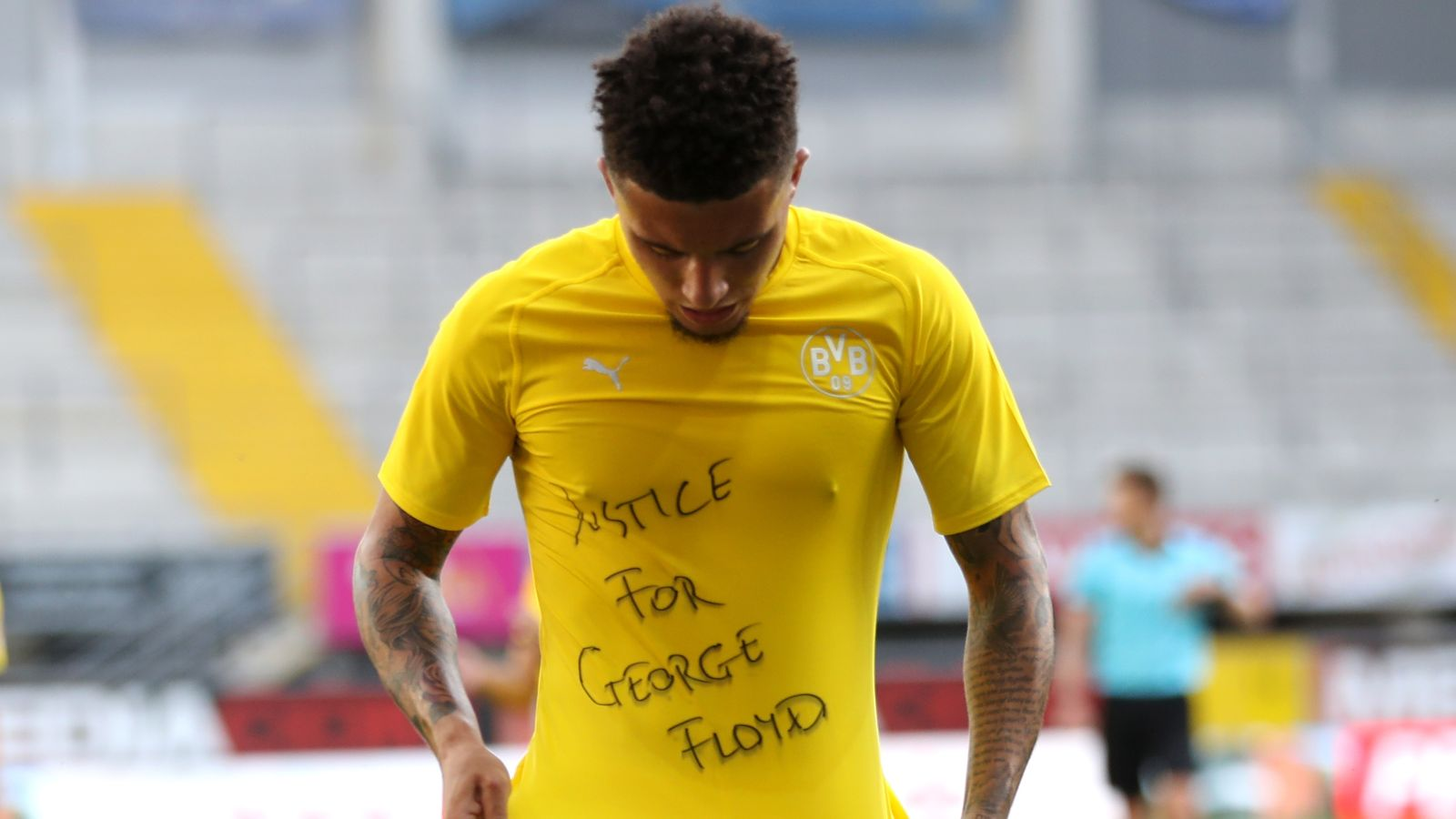 George Floyd death: No action against Jadon Sancho for supportive message