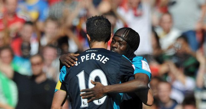 Gervinho: Delighted to be playing alongside Robin van Persie in Arsenal attack