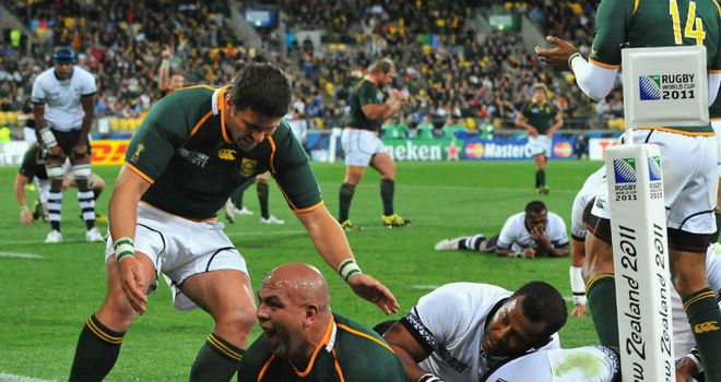 Steenkamp: Crashed over for the opening try