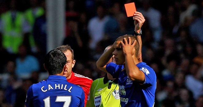 Rodwell: Dismissal against Liverpool angered Moyes and Everton have decided to appeal