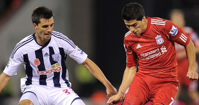 Paul Scharner has accused Luis Suarez of diving during Liverpool's 2-0 win at West Brom