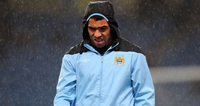 Carlos Tevez: The striker has not played for Manchester City since September