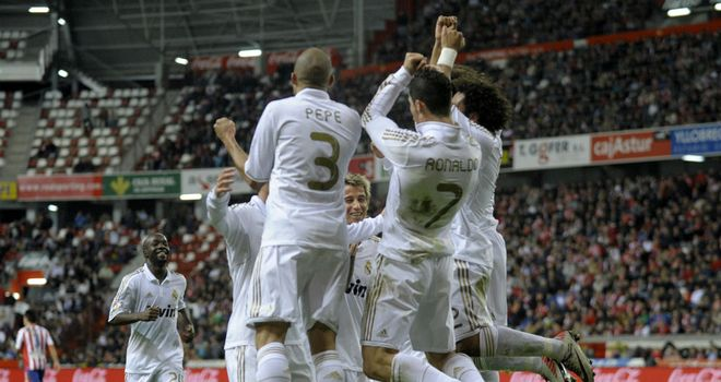 It is all smiles for Real Madrid as they secure a 3-0 away win over Sporting Gijon