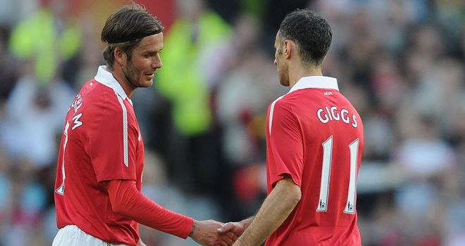 Reunion: Giggs is hoping to play alongside Beckham at London 2012