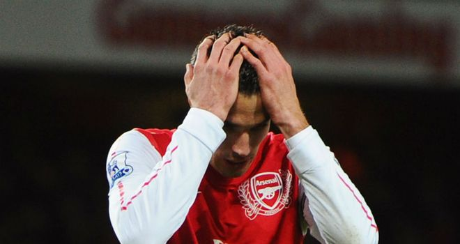 Increasingly terse: Van Persie 'is looking more frustrated', says Winterburn