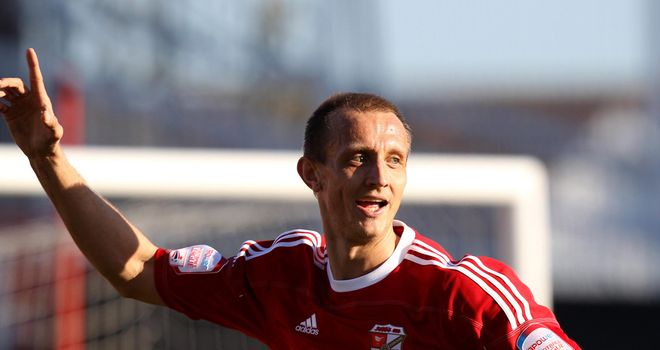 Paul Benson: Notched a brace as Swindon thumped Port Vale 5-0 to clinch title