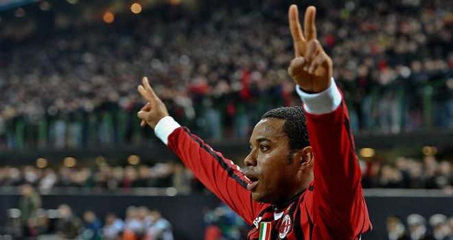 Robinho: Helped AC Milan cap superb week with a win over Cesena