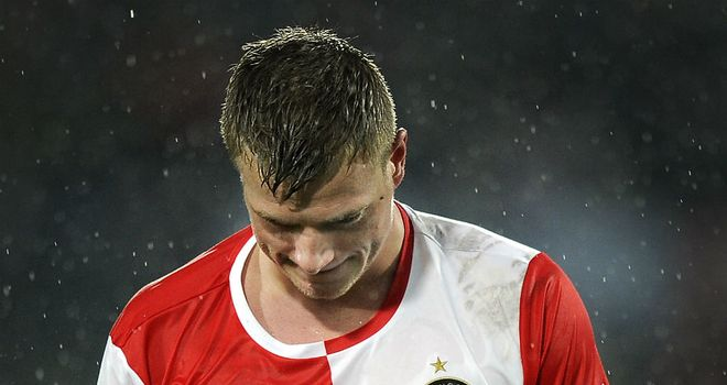 John Guidetti: Was sent off for removing his jersey against RKC