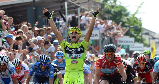 Andrea Guardini: Came through late to deny Cavendish at the Giro d'Italia