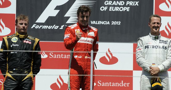 Michael Schumacher (R): Looking forward to watching his former rivals battle it out at the same team