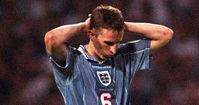 England drew 1-1 with Germany after extra time in their Euro 96 semi-final, before losing the shootout in sudden death