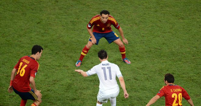 Samir Nasri: France midfielder was in a foul mood after Euro 2012 defeat by Spain