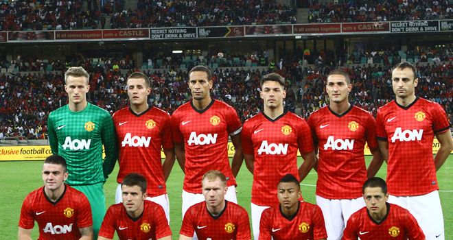 United's jersey was manufactured by Nike and sponsored by Aon back in 2012