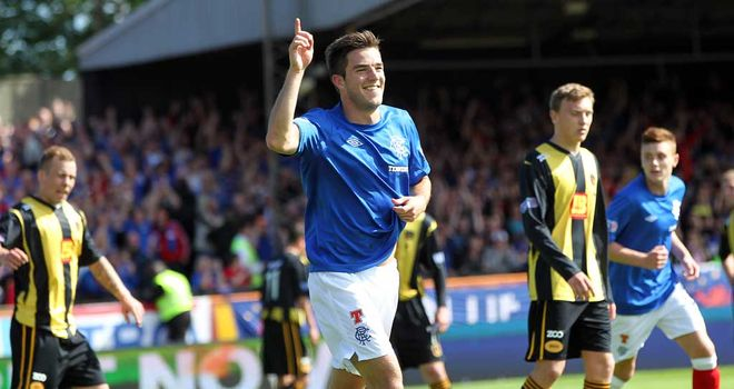 Andy Little: Hat-trick hero for Rangers