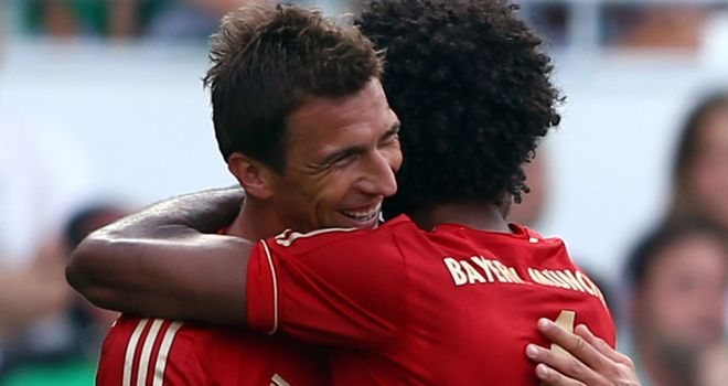 Mario Mandzukic struck for Bayern's second