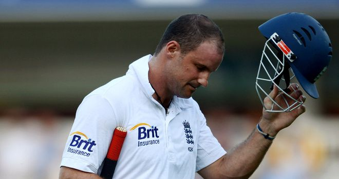 Strauss trudges off the field during his 100th, and final, Test for England at Lord's