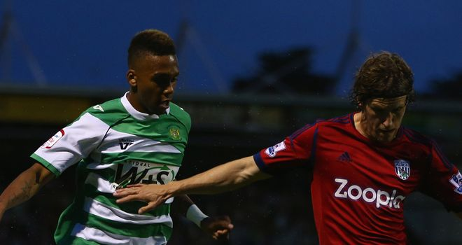 Marsh-Brown (l): Hit the winning penalty for Yeovil
