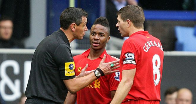 Steven Gerrard: Liverpool's captain was less than impressed with the refereeing of Andre Marriner