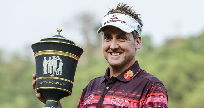 Ian Poulter: carded a second successive 65 on the  Olazabal Course