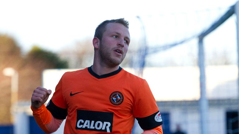 Johnny Russell: Celebrates one of his goals for United