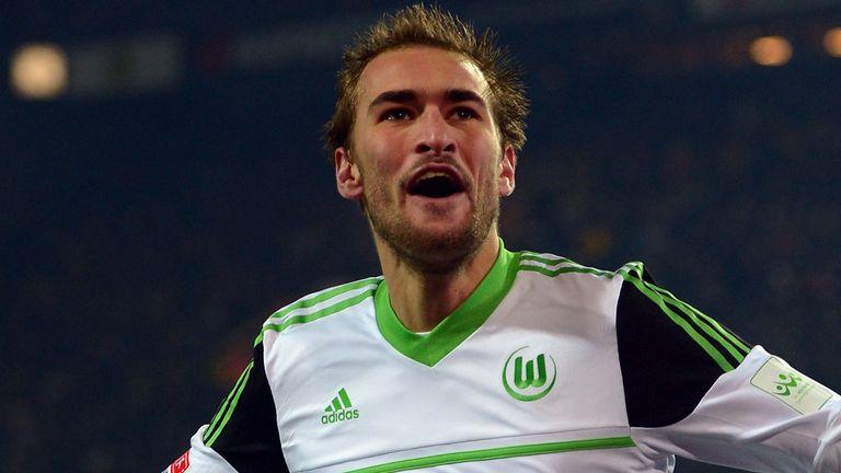 Bas Dost wheels off after netting Wolfsburg's winner