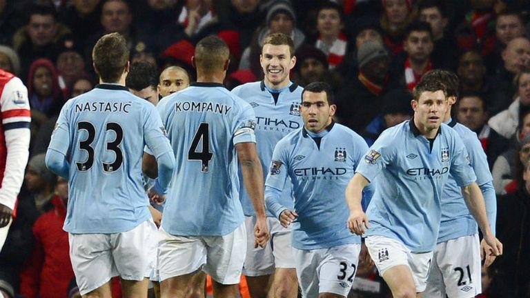 Manchester City: Celebrate Edin Dzeko's goal at Arsenal
