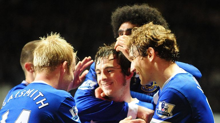 Leighton Baines' fabulous free-kick set Everton on their way to a comeback victory