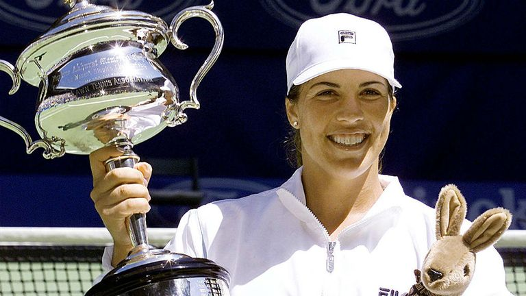 Jennifer Capriati, pictured in 2001 winning the first of her two titles