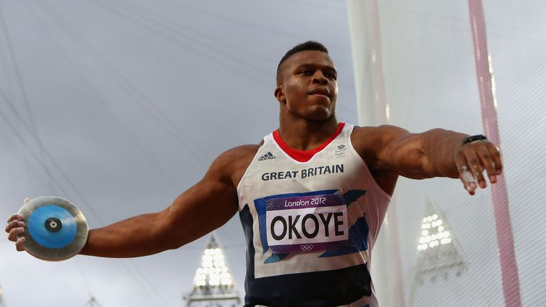 Okoye competed for Great Britain in the discus during London 2012