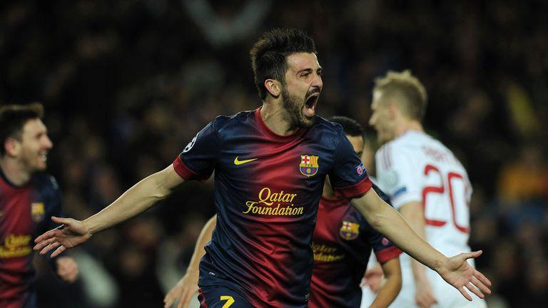 David Villa: Barcelona forward has been linked with a move to Tottenham