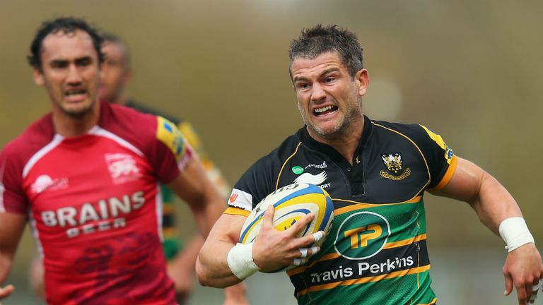 Tom May in action for Northampton against London Welsh