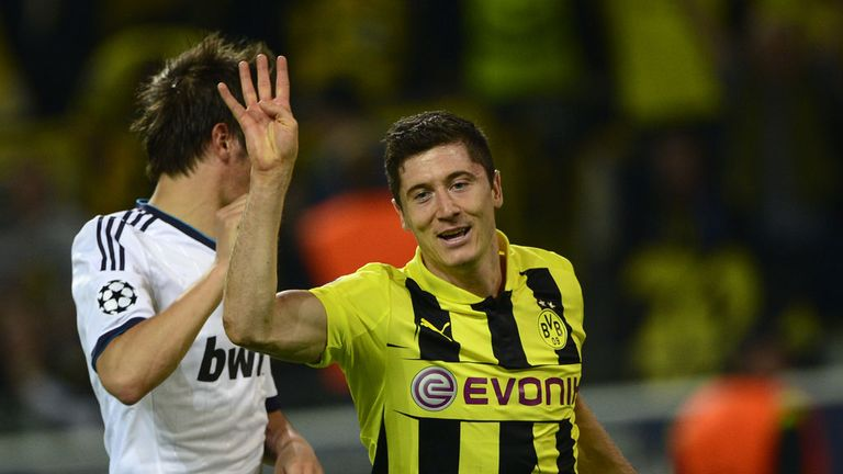 Robert Lewandowski scored four as Dortmund destroyed Real Madrid