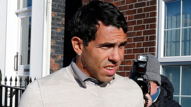 Carlos Tevez sentenced to community service for driving while disqualified
