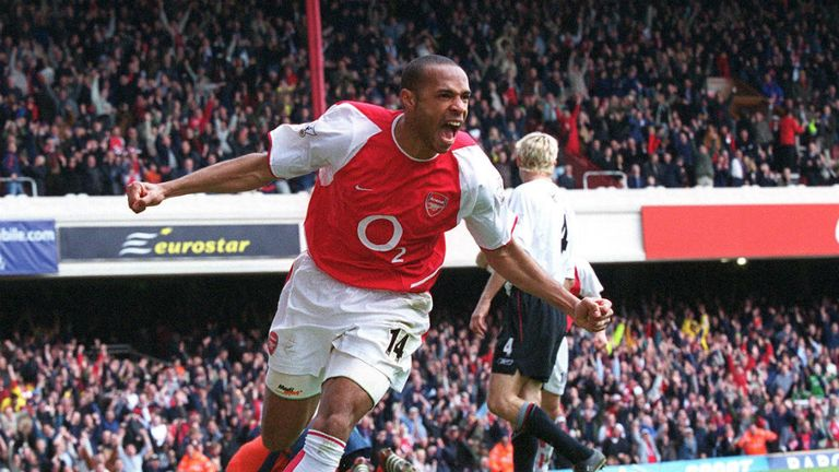 Thierry Henry scored 114 league goals at Highbury