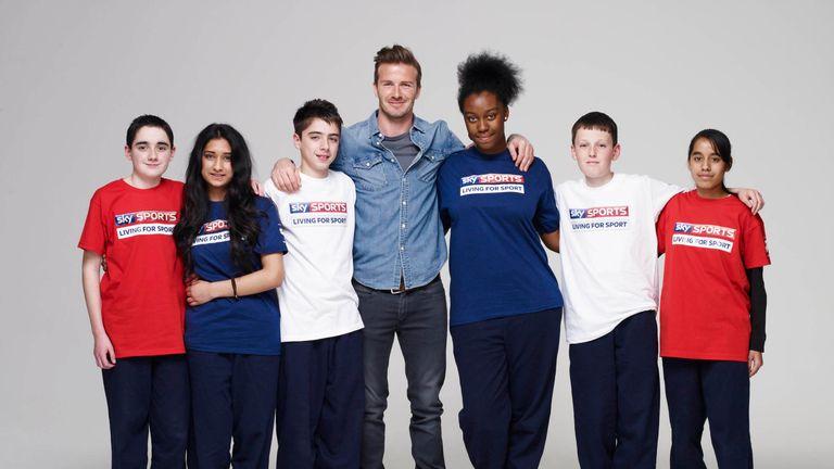 Beckham is a Sky ambassador