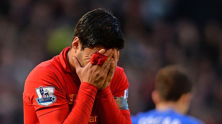 Luis Suarez: Bit Chelsea defender Branislav Ivanovic on Sunday
