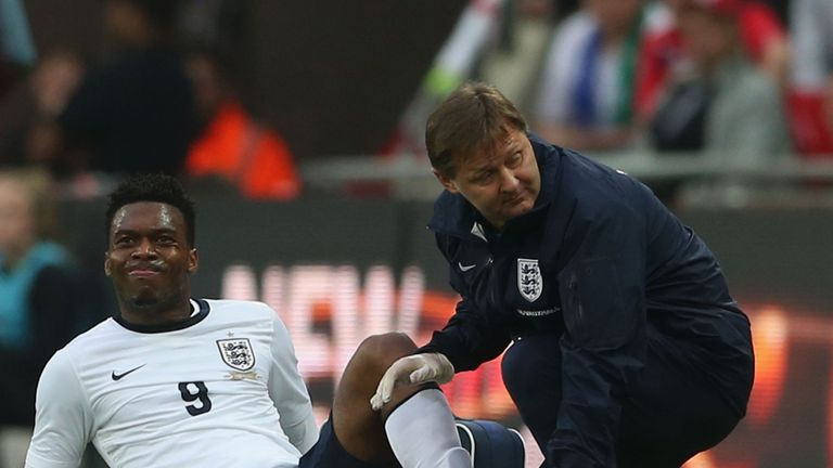 Sturridge picked up a knock during England's friendly with Republic of Ireland