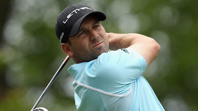 Sergio Garcia: Marked ball from the side to avoid stepping on Bill Haas' line